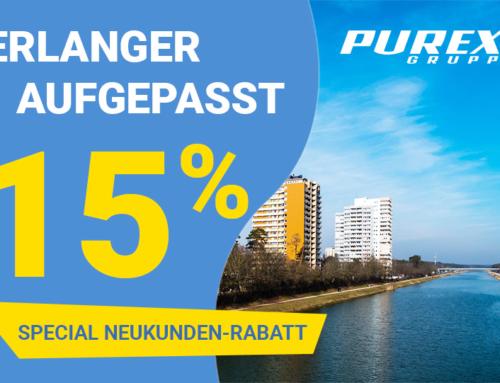 15% Special Neukunden-Rabatt für Erlangen