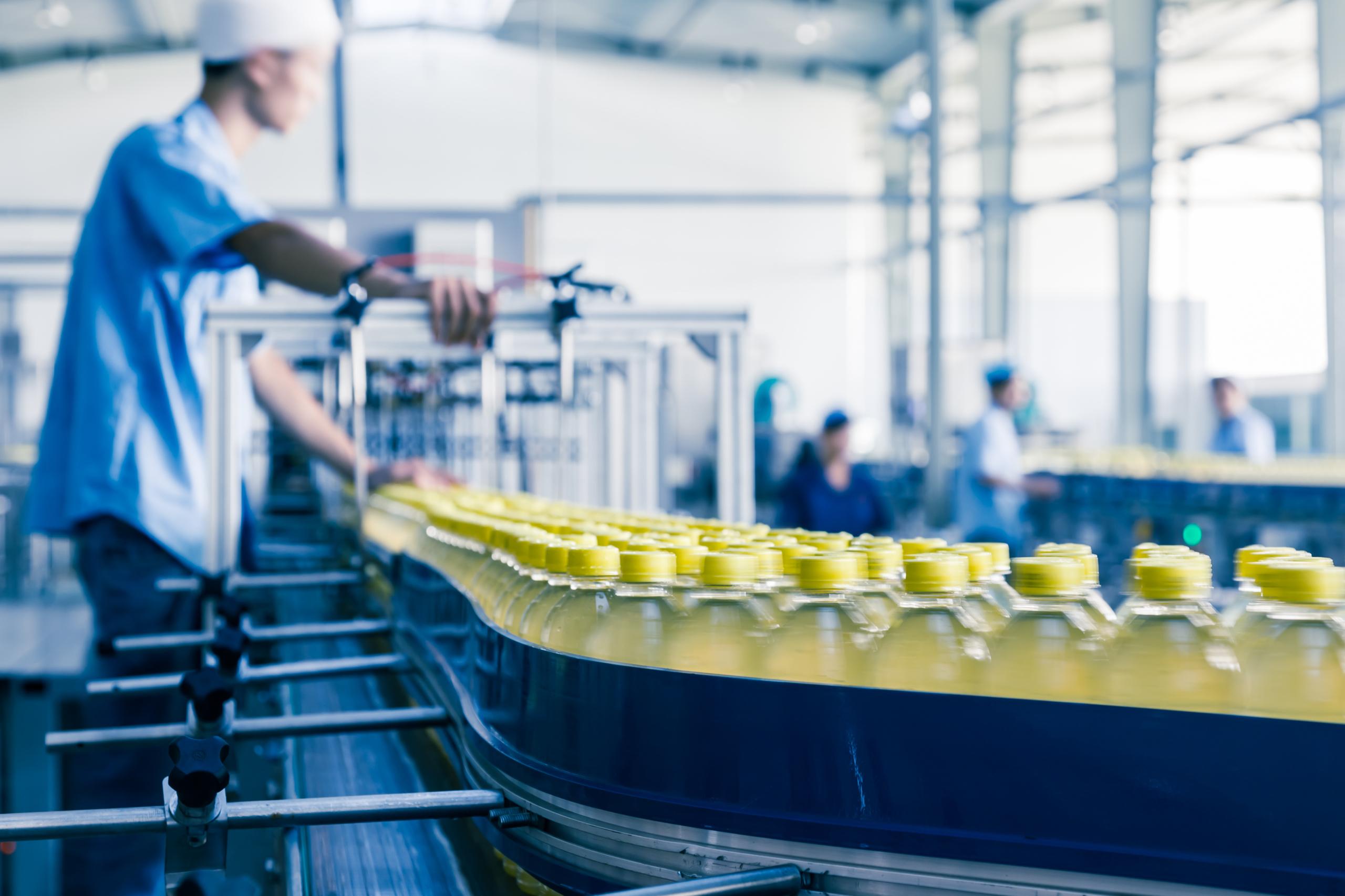 Industriereinigung Flaschen Industrie