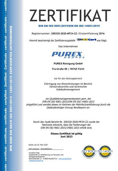 Zertifikat Purex