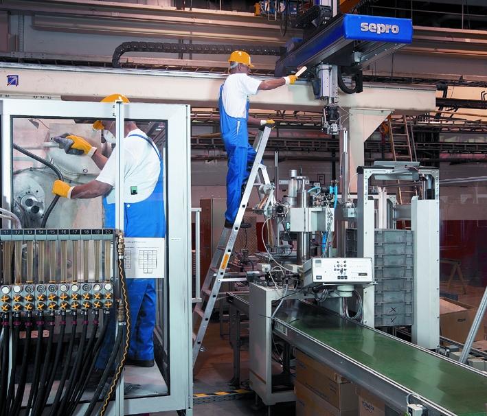 industriereinigung Anlage Männer